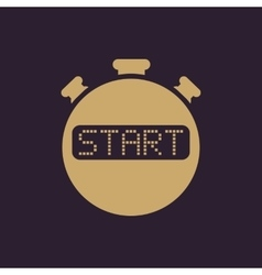 The start stopwatch icon Clock and watch timer vector