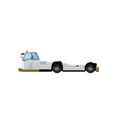Tow truck for plane transportation isolated icon vector