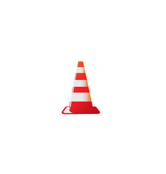 traffic cone in under construction signal warning vector image