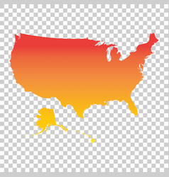 Usa united states of america map colorful orange vector