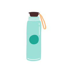 vacuum thermo tumbler flask with cap and handle vector image