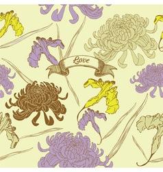 Vintage Flowers Card vector