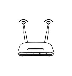 wifi router hand drawn outline doodle icon vector image