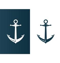 Anchor business modern logo silhouette ship - vector image