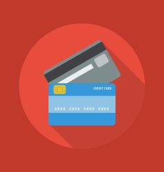 Business Flat Icon Credit card vector image vector image
