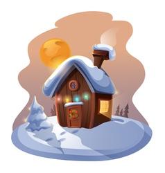 Christmas home vector image