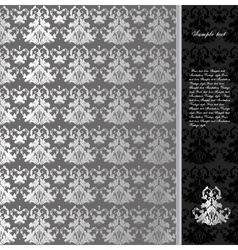 Floral seamless silver background vector image vector image