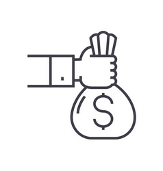 investmentsponsorfunding line icon sign vector image