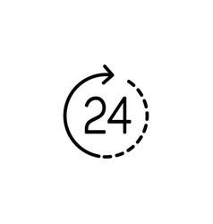 line round the clock service icon vector image vector image
