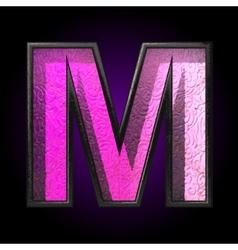 pink plastic figure m vector image