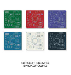 set of circuit board design vector image vector image