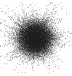 Sunburst Circle Shape Stippling Design EPS 10 vector image vector image