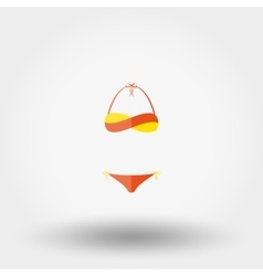 swimsuit icon vector image vector image