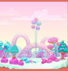 beautiful fantasy sweet world background vector image vector image