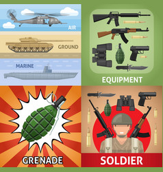 colorful military square concept vector image vector image