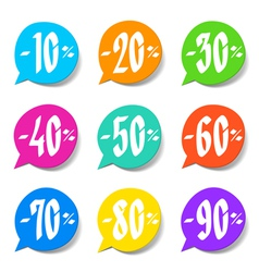 Discount labels vector image vector image