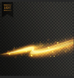 golden light streal transparent light effect vector image vector image