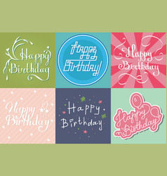 beautiful birthday invitation card design colorful vector image vector image