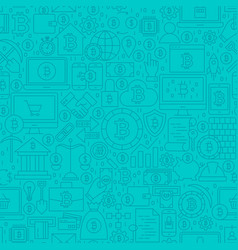 blue cryptocurrency line tile pattern vector image vector image