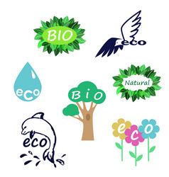 eco logo set vector image