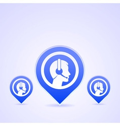 Headset Communication vector image