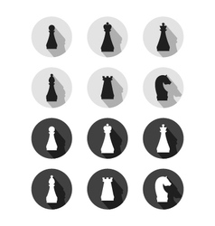 Set of chess sings vector image