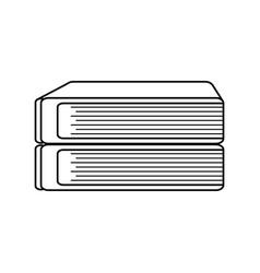 stack book school image line vector image
