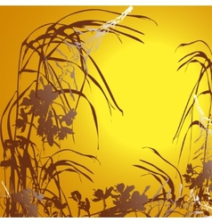 Sunset floral background vector image vector image