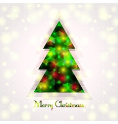 a Christmas tree on an abstract background vector image