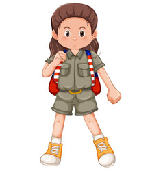 a girl scout character vector image