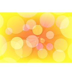 Abstract circle design yellow vector image