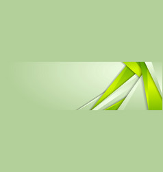abstract green corporate material banner design vector image