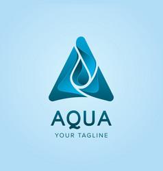 Aqua logo concept design template vector