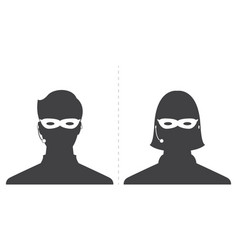 Avatar head profile silhouette call center thief vector