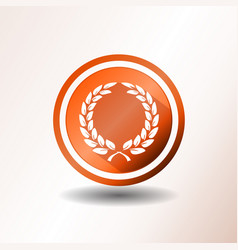 award laurel wreath icon in flat design vector image
