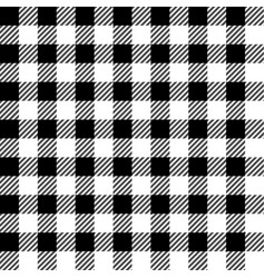 black lumberjack seamless pattern vector image