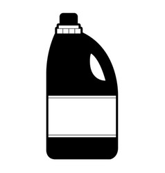 Black sections silhouette of detergent bottle vector