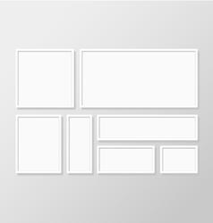 Blank white frame vector