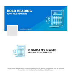 blue business logo template for calculator vector image