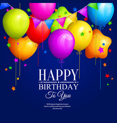 bunch of colorful birthday balloons vector image