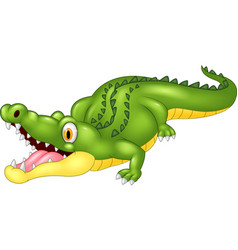 cartoon crocodile happy vector image