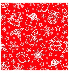 Christmas seamless pattern abstract red background vector image