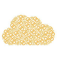 Cloud composition of wedding rings icons vector