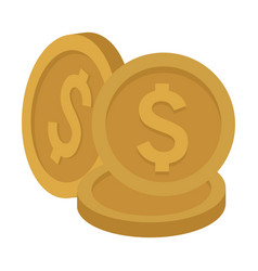 coins stacked isolated vector image