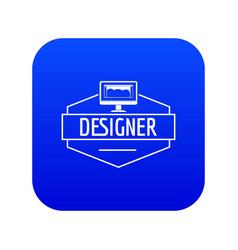 Designer icon blue vector