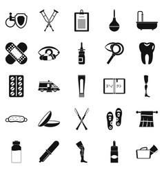 Disabled icons set simple style vector