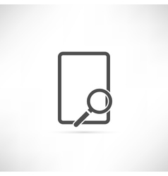 Empty Find Icon vector image
