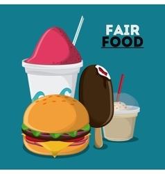 Fair food snack carnival design vector
