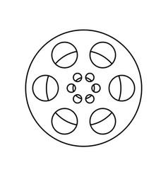 film frame film roll symbol vector image