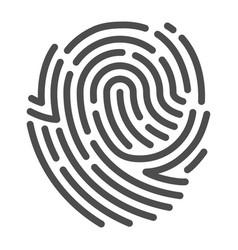 fingerprint line art human biometric symbol and vector image